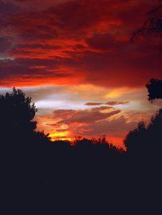 Dark Monsoon Sunset, Arizona