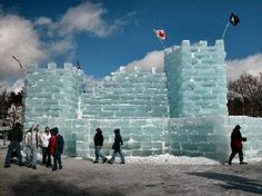 Saranac Lake, NY, Winter Carnival, Ice Castle - a yearly event in February!