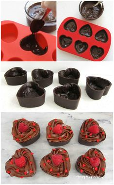 Chocolate Mousse Cup Hearts - Valentine's Day Desserts how to make chocolate heart cups and bowls Chocolate Mousse Cup Hearts – Valentine's Day Desserts 11 Source by Chocolate Mousse Cups, Chocolate Bowls, Chocolate Hearts, Best Chocolate, How To Make Chocolate, Homemade Chocolate, Chocolate Desserts, Making Chocolate, Valentine Chocolate