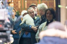 New Four Weddings sequel pics John Hannah, Andie Macdowell, Red Nose Day, Hugh Grant, Lily James, Funeral, Weddings, Couple Photos, Couples