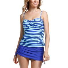 French Stripe Bandeau #Tankini #swimwear #tankini