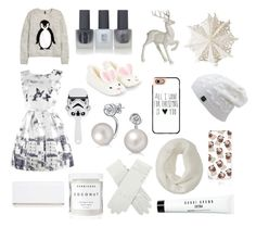 """Under $40 Gift Guide - White"" by beavercity on Polyvore featuring H&M, Dot & Bo, Disney, Topshop, Accessorize, Bling Jewelry, Casetify, Aéropostale, River Island and Herbivore Botanicals"