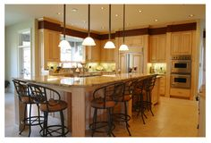 Be careful in buying the right kitchen island lighting. Here are some tips on kitchen island lighting for your references. Kitchen Lighting Design, Kitchen Island Lighting, Kitchen Lighting Fixtures, Kitchen Pendant Lighting, Kitchen Islands, Light Fixtures, Pendant Lights, Design Kitchen, Ceiling Fixtures