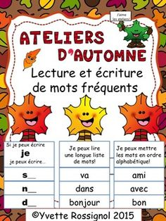 What student will not love to practice reading and writing sight words during these 3 literacy centers! French sight words to choose from so lots of room for differentiation) French Teacher, French Class, French Lessons, French Teaching Resources, Teaching French, Communication Orale, French For Beginners, French Education, Online Classroom