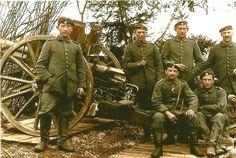 Кайзеровская полевая артиллерия на фронте