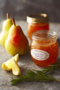 Rosemary and pear preserve...