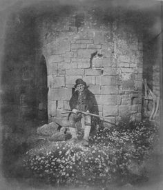 Fox Talbot founfpd a way to print onto paper. Gamekeeper sitting with daisies, c Salted paper print by William Henry Fox Talbot Louis Daguerre, Old Photography, History Of Photography, Edward Steichen, Fine Art Photo, Photo Art, Vintage Photographs, Vintage Photos, Henry Fox Talbot