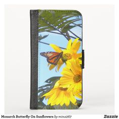 Monarch Butterfly On Sunflowers iPhone Wallet Case Ipod Touch Cases, Ipod Cases, Iphone Wallet Case, Card Wallet, New Iphone, Apple Iphone, Phone Card, Unique Iphone Cases, Yellow Sunflower