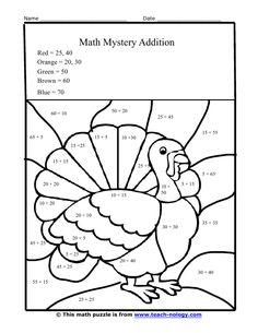 best thanksgiving worksheets images  thanksgiving worksheets  thanksgiving worksheets  mystery tommy the thanksgiving turkey addition worksheet  thanksgiving math worksheets math addition