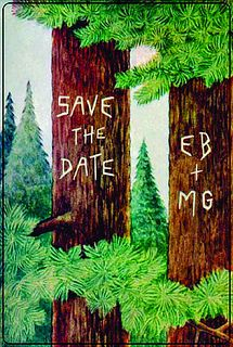 Cute vintage-style save the date