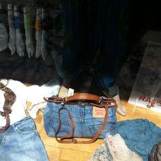 Borsa jeans negozio via Cilea