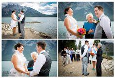 *Banff*Canmore*Lake Louise*Calgary*Wedding Photographer*Minnewanka Lake Wedding ceremony*www.kimpayantphotography.com*