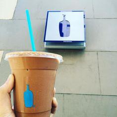 終於喝到傳說中的blue bottle #mocha by alicehu216