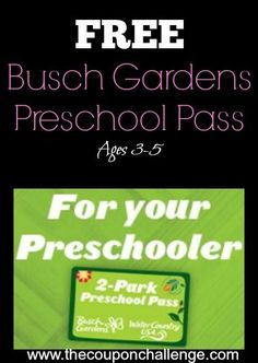 Free Busch Gardens Preschool Pass is Back for 2014 - kids ages 3-5 get in FREE to both Busch Gardens Williamsburg AND Water Country USA!