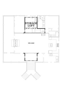 Rutherford's Roost House Plan Design from Allison Ramsey Architects Loft Floor Plans, Cottage Floor Plans, Unique House Design, Tiny House Design, New House Plans, Small House Plans, 3 Bedroom Floor Plan, Loft Flooring, Tiny House Living