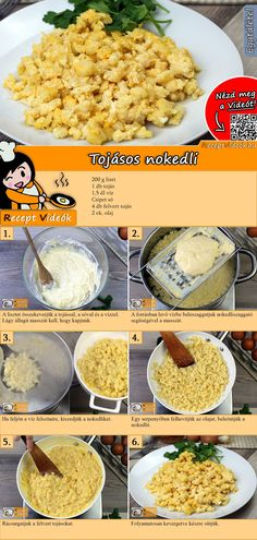 Tojásos nokedli recept elkészítése videóval No Salt Recipes, Other Recipes, Real Food Recipes, Yummy Food, Tasty, European Cuisine, Hungarian Recipes, Recipes From Heaven, Winter Food