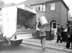 Before Bins got Wheels - Jo Kennedy - Deep Nostalgia 1970s Childhood, My Childhood Memories, Great Memories, Uk History, British History, History Photos, My Memory, The Good Old Days, Back In The Day