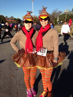 Running costume for the Turkey Trot 10K in Virginia Beach, VA