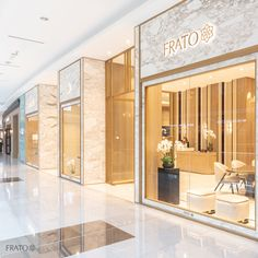 Welcome to frato interiors new flagship store at the dubai mall visit us on Shoe Store Design, Jewelry Store Design, Mall Design, Shop Front Design, House Design, Retail Design, Iron Furniture, Cheap Furniture, Furniture Ideas