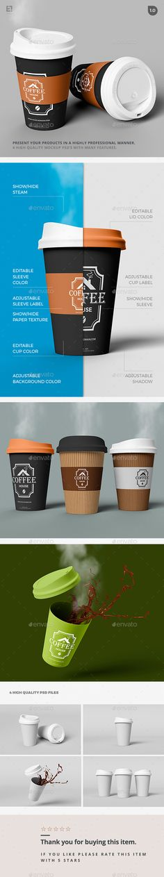 Coffee Cup Branding Mockup - Food and Drink Packaging