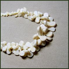"""Folly of White"" Coral Necklace"