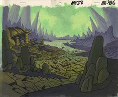 James Eatock Presents: The He-Man and She-Ra Blog!: FILMATION ART: The remains of Spydra's castle.