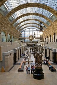 Musee d'Orsay, Paris.  This is an absolutely fabulous museum build in an old train station.