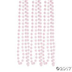 Pink Flapper Style Faux Pearl Necklaces