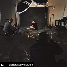 Image by  @cameronpowellstudio  That's a wrap! Rad day in the studio with the a-team. #profoto #setlife #photography #behindthescenes