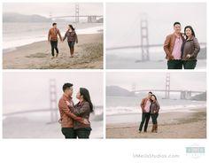 San Francisco Baker Beach engagement photos   © U Me Us Studios - http://UMeUsStudios.com/blog
