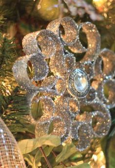 christmas ornaments made from recycled toilet paper rolls, christmas decorations, crafts, seasonal holiday decor