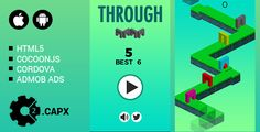 Through It by crazyprogrammer -Through It on Construct 2 game engine. -Responsive on all device -Easy to reskin -Included all the source file ready to export for mobile and web game cordova, cocoonjs) and . Game Engine, Responsive Web Design, Web Design Tutorials, Flexibility, Engineering, Android, Coding, App, Games