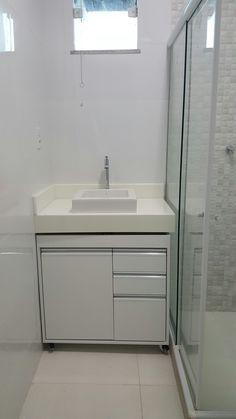 Laundry Cabinets, Diy Cabinets, Bathroom Design Inspiration, Bathroom Interior Design, Ikea Bathroom, Small Bathroom, Funky Home Decor, Vanity, Decoration