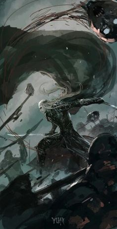 Thranduil from The Hobbit Dark Fantasy, Fantasy World, Hobbit Art, O Hobbit, Legolas Und Thranduil, Gandalf, Dark Elf, Fantasy Character Design, Paladin