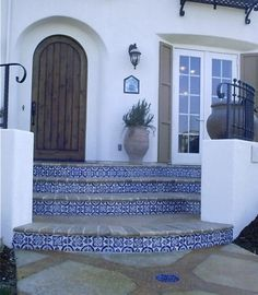 Spanish Villa  Latin Accents Handmade ceramic decorative tiles  saltillo and reclaimed terra cotta  www.westsidetile.com