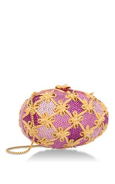 Pink Faberge Egg Minaudiere by HERITAGE AUCTIONS SPECIAL COLLECTION for Preorder on Moda Operandi