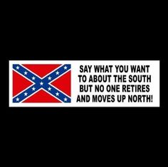 """Funny """"SAY WHAT YOU WANT TO ABOUT THE SOUTH"""" rebel decal BUMPER STICKER redneck #Unbranded"""