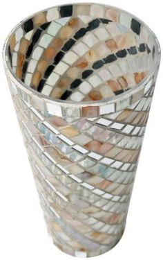 MG Decor mg-017 Mosaic Glass Vase by mg décor. $9.95. Handcrafted. Exclusive item. Individual piece. Multi colors glass case exclusive by madhu's collection-mg decor