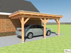 houten carport aanbouw 500x350cm