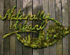 Naturally Urban Moss Graffiti