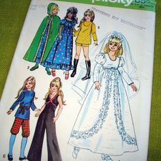 1971 Vintage Simplicity CRISSY Doll Clothes by SelvedgeShop