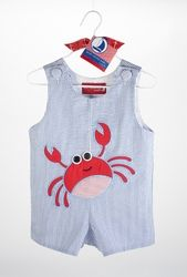 My son will be wearing this crab shortall by Mud Pie this summer! (But I got his on ebay!)