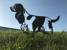 Store - Metal Birds and Animals Metal Garden Art Spaniel Puppies, Cocker Spaniel, Metal Garden Art, Metal Art, Dog Table, Dog Garden, Metal Birds, Animal Silhouette, Dog Runs