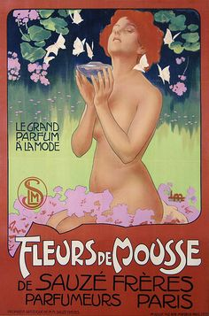 french art nouveau advert