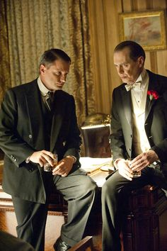 Steve Buscemi as Enoch 'Nucky' Thompson and Shea Whigham as Eli Thompson in Boardwalk Empire