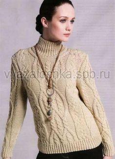 Схеми вязания женских свитеров