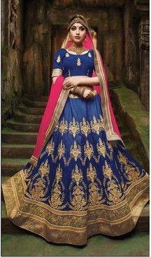 Navy Blue Color Silk A Line Style Traditional Lehenga Choli | FH524079358 >> Follow us @heenastyle <<< ------------------------------------- #latestlehenga #lehengasareesonline #lehengasuit #onlinelehengashopping #bridallehengasonline #designerbridallehengas #weddinglehengacholi #pakistanilehenga #pinklehenga #lehengastyles #fishcutlehenga #bollywoodlehenga #designerlehengasaree #lehengasareeonlineshopping #indianbridallehenga #treditioanl #Heenastyle