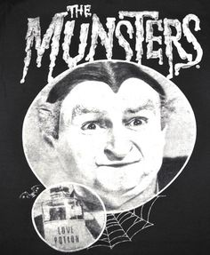 """*** BRAND NEW *** This is an Amazing Portrait of Grandpa Munster riding their famous Hot Rod Car - DRAG-U-LA. Classic TV Show - """"THE MUNSTERS"""" Men's Style T-Shirt Screen Printed with High Quality Ink"""