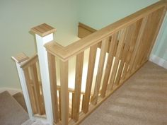 white and oak staircase - Google Search
