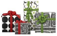 ** Marimekko Black and White Gift Wrap